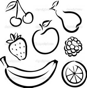 Black And White Fruits Vegetables Coloring Pages / Sawyoocom sketch template
