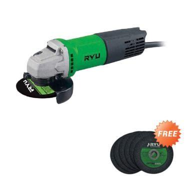 jual ryu rsg 100 3 mesin gerinda 4 inch free 6 pcs batu potong angle grinder harga