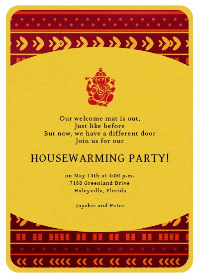 Invitation Card Template For Housewarming India by Invitation Card Designs Invites
