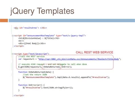jquery templating 2012 html5 css3 and jquery with sharepoint 2010