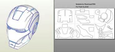 robo3687 iron man mark 4 6 pepakura foam templates easy