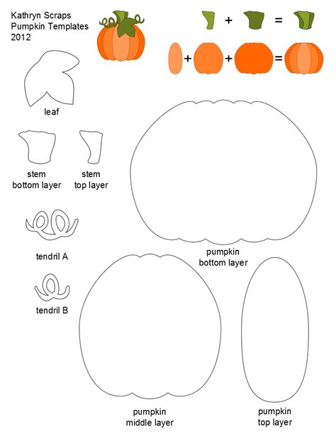 pumpkin printable templates kathryn scraps layered pumpkin template