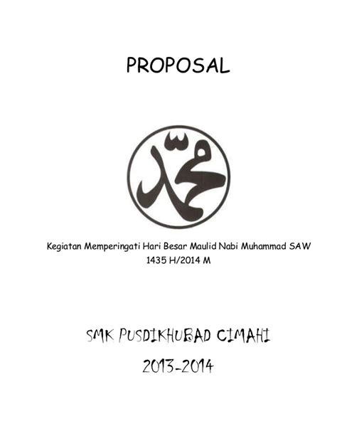 proposal maulid nabi proposal kegiatan maulid nabi muhammad saw