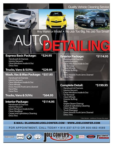 flyers car auto repair free samples pictures