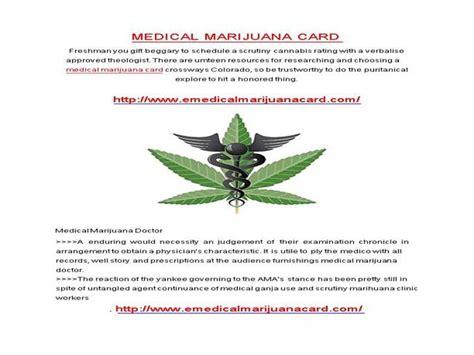 marijuana card template medical marijuana card authorstream