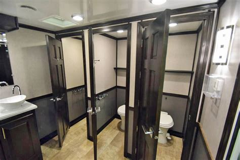 bathroom portable luxury portable restroom trailers portablerestroomtrailer com