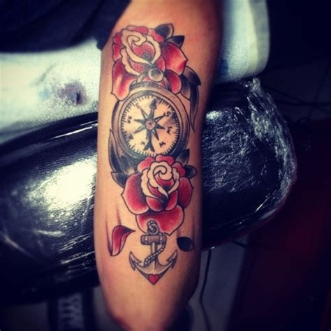 rose anchor tattoo meaning anchor tattoos page 13