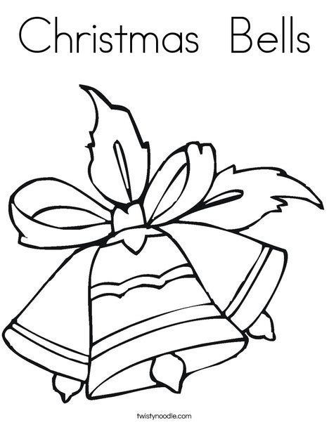 coloring pages for christmas bells christmas bells coloring page twisty noodle