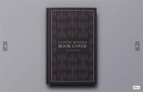 free hardback book cover mockup psd template responsive