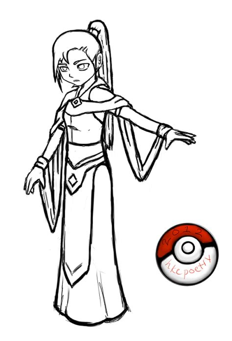 pokemon trainer coloring pages pokemon trainer character rough lineart by hkepoetry on