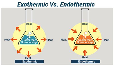 exle of endothermic reaction difference between endothermic and exothermic reactions