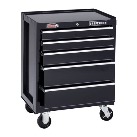 Craftsman 5 Drawer by Craftsman 26 Quot Wide 5 Drawer Bearing Bottom Chest Black
