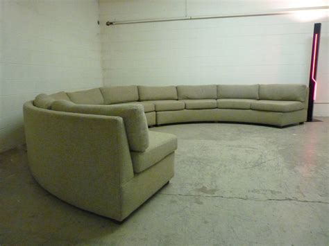 Large Curved Sofa Large Curved Milo Baughman Sectional Sofa At 1stdibs