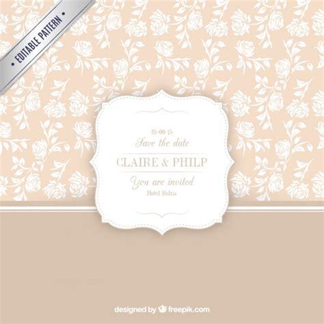 freepik wedding pattern floral pattern for wedding invitation vector free download