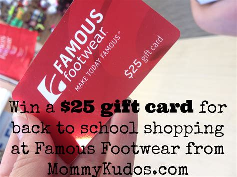 Famous Footwear Gift Card - back to school shoe shopping a giveaway mommy kudos