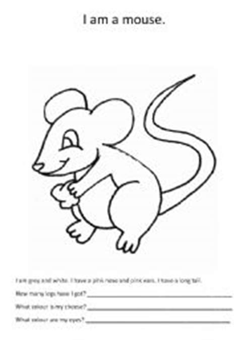 Mouse Worksheet Answers by Worksheets A Mouse To Colour
