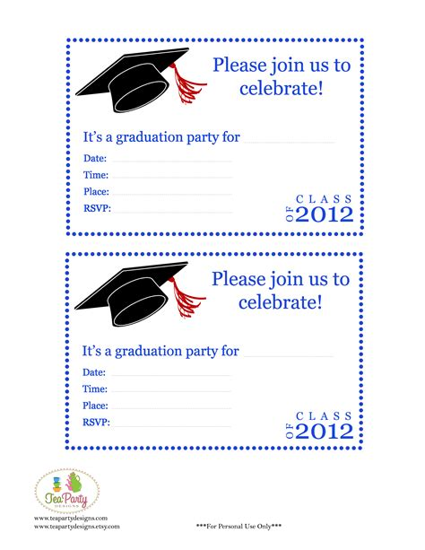 Free Printable Diy 2012 Graduation Banner Invitations Free Printable Graduation Invitation Templates