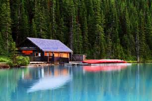 cabin on lake louise flickr photo