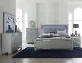bedroom dresser sets homelegance allura bedroom set with led lighting silver