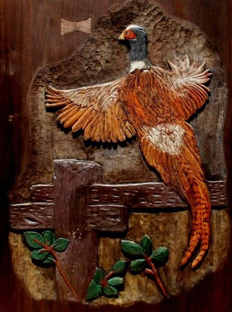 hand crafted wildlife relief carving birds  artisans