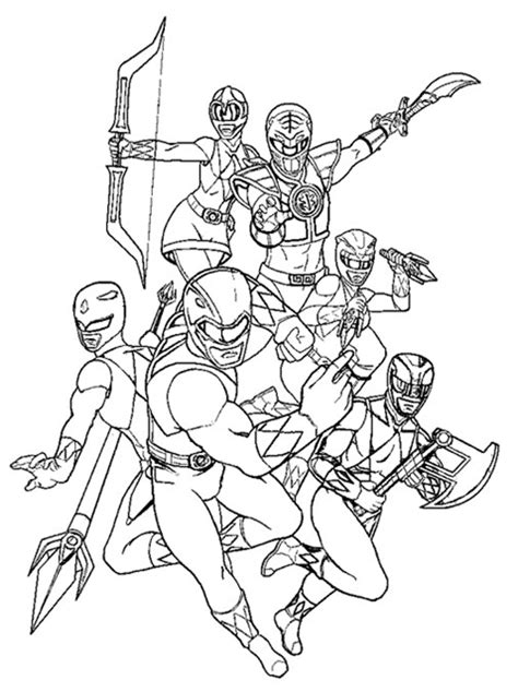 kids page power rangers coloring pages