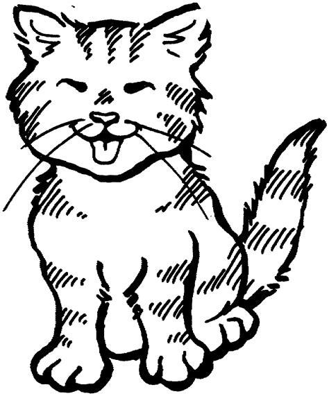 happy cat coloring page dibujos para ni 241 os peque 241 os para colorear