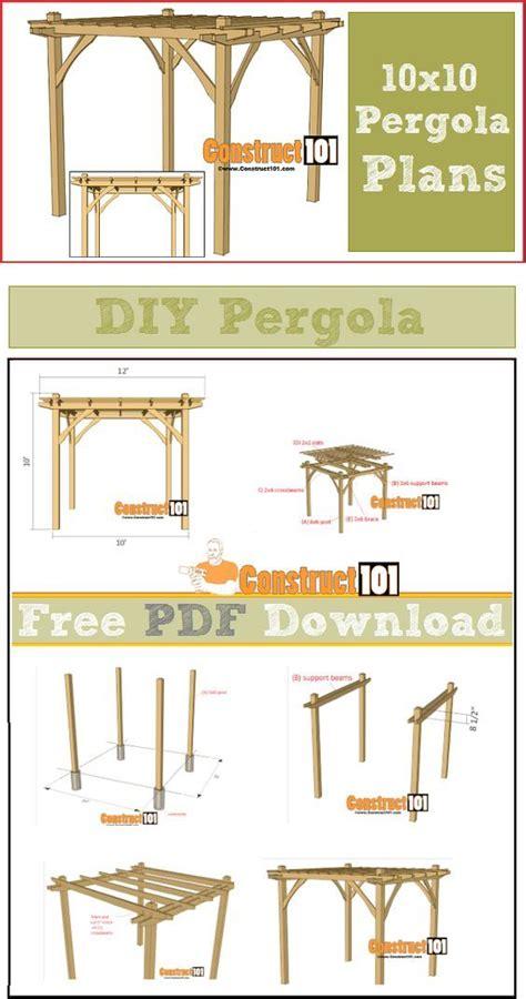 10x10 pergola plans pdf download pergola plans