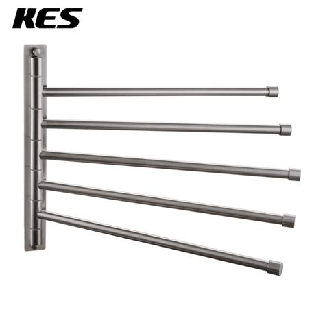swing out towel rack kes sus 304 stainless steel swing out towel bar 5 bar