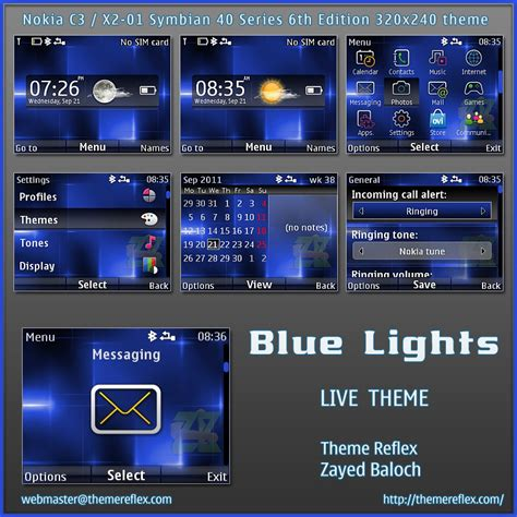 nokia themes reflex blue lights live theme for nokia c3 x2 01 themereflex