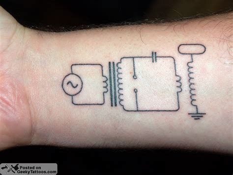 tattoo coils tesla coil schematic geeky tattoos
