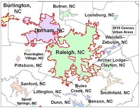 map of nc and surrounding area urbanized areas released design metropolitan