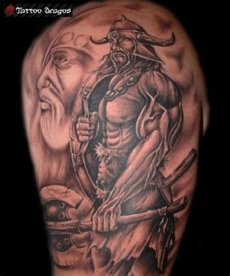 viking blind 233 avec armes tatouage tatouage viking 21 12 2017