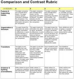 Compare And Contrast Essay Topics For College by Compare And Contrast Essay Rubric For Middle School