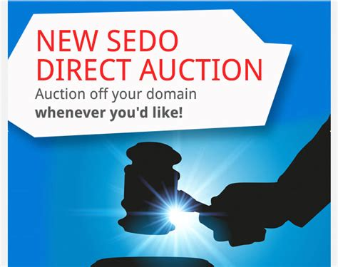 sedo domain sedo adds feature that allows you to auction your domains