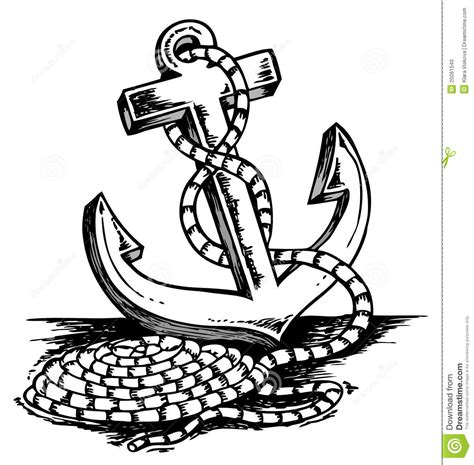 Anchor Theme Drawing Stock Photo Image 25061540