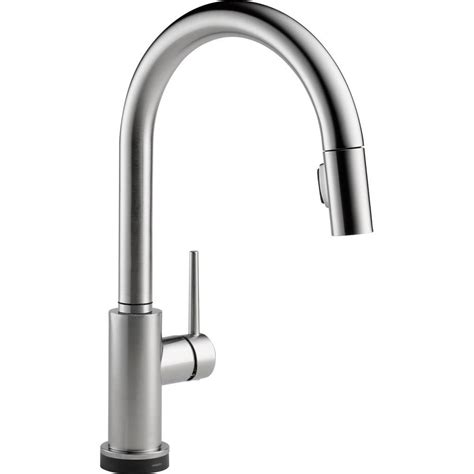 delta single handle kitchen faucet with spray delta trinsic single handle pull sprayer kitchen