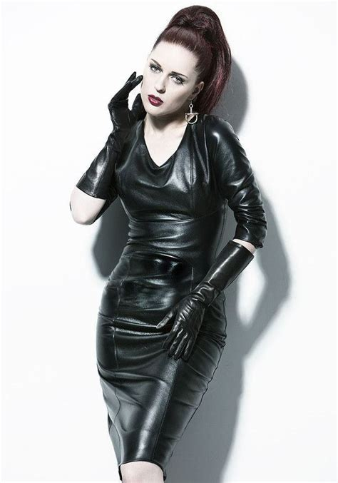 Blackkelly Lfm 687 leather leather leather in leather dress