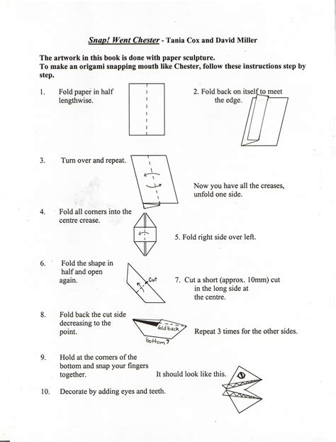 How To Make A Paper Snap - book week ipswich district librarian network