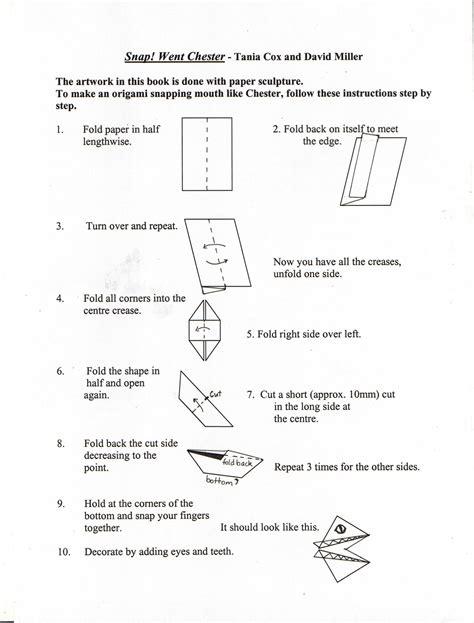 How To Make A Paper Snap - how to make a paper snap 28 images book week ipswich