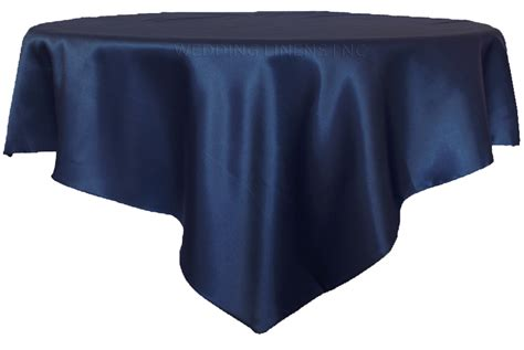 what size overlay for 72 table 72 satin table overlays navy blue