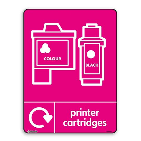 printer cartridges wrap recycling signs recycle now