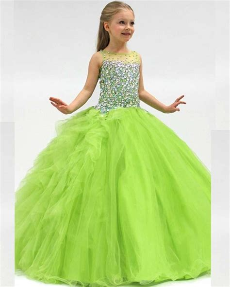 Branded Green Dress For And Size 7y Until 14y gown flower dresses for birthday frock designs 2016 pageant dresses