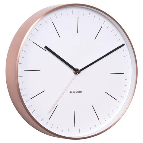 kg homewares silent digital wall clock white karlsson wall clock copper case w white face silent sweep