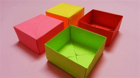 How To Make A Paper Box With A Lid - how to make a paper box easy paper box hd tutorial