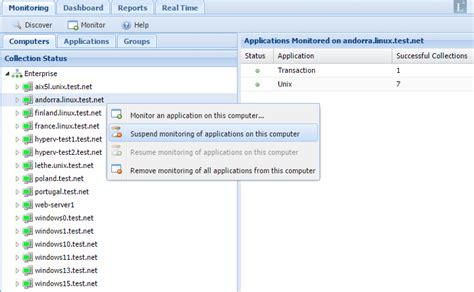 Suspend Resume Application Monitoring Data Collection Longitude