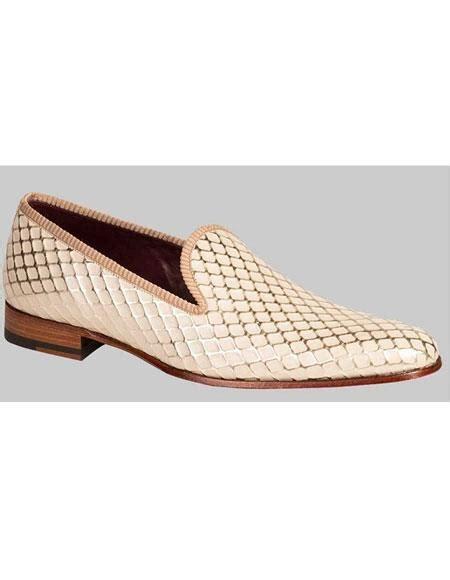 bone color shoes sku gd468 s handmade pattern bone calfskin sl