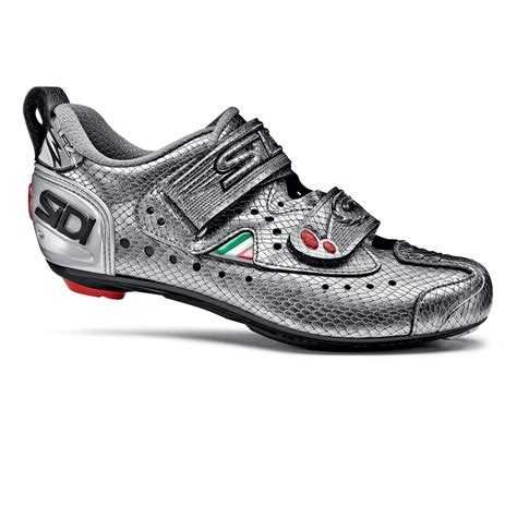 womens bike shoes sidi t2 carbon triathlon cycling shoes s 39 silver