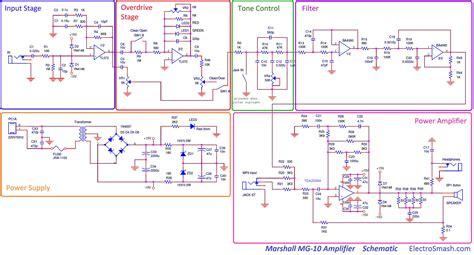 layout versus schematic tutorial electrosmash marshall mg10 analysis