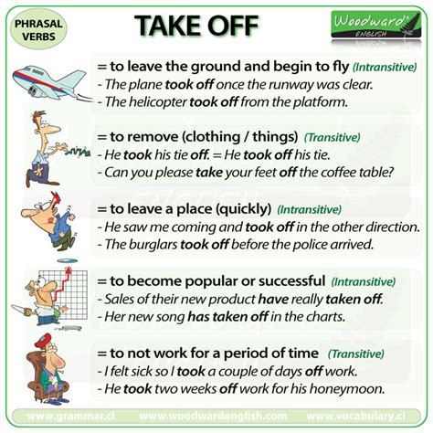 0007464665 work on your phrasal verbs take off phrasal verb meanings and exles woodward