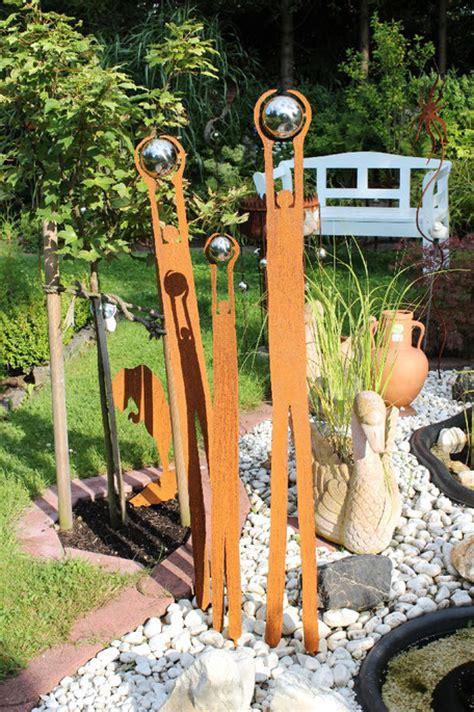 Gartendeko Holz Edelstahl by Edelrost Design Moderne Kunstwerke Und Skulpturen